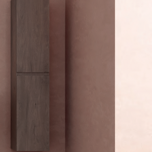 colonne meuble de salle de bain en bois