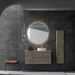 meuble salle de bain effet bois 60cm